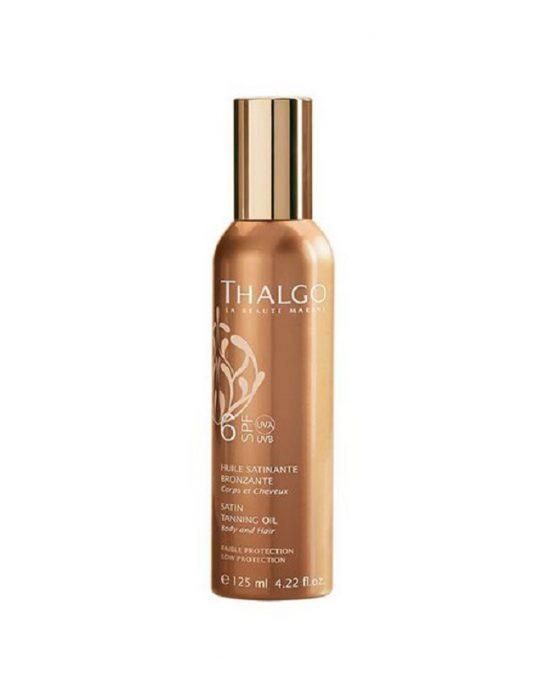 Šilkinis aliejus kūnui ir plaukams SPF 6+ Satin Tanning Oil